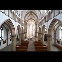 Dortmund (Hörde), Stiftskirche St. Clara, Blick von der Orgelempore ins Hauptschiff