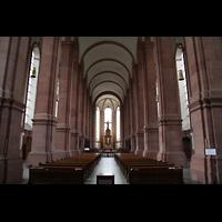 Himmerod, Zisterzienserabtei, Hauptschiff / Innenraum in Richtung Chor