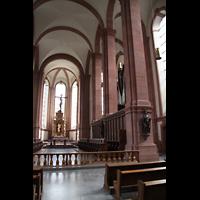 Himmerod, Zisterzienserabtei, Chorraum mit Durchblick zur Orgel