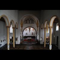 Trier - Pfalzel, Marienstiftskirche, Innenraum von der Orgelmepore aus