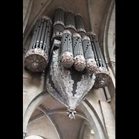 Trier, Dom St. Peter (Kryptaorgel), Orgel von unten
