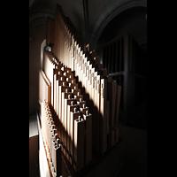 Trier, Dom St. Peter (Kryptaorgel), Pedalpfeifen der Chororgel