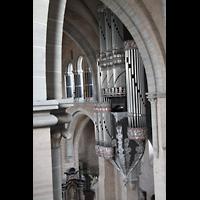 Trier, Dom St. Peter (Kryptaorgel), Hauptorgel vom Spieltisch der Chororgel aus