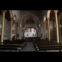Trier - Pfalzel, Marienstiftskirche, Innenraum in Richtung Chor