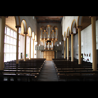 Trier - Pfalzel, Marienstiftskirche, Innenraum in Richtung Orgel