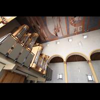 Trier - Pfalzel, Marienstiftskirche, Orgelempore und Kirchendecke
