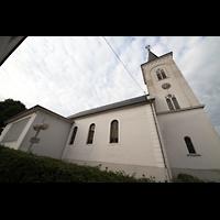 Völklingen - Ludweiler, Hugenottenkirche, Ansicht von der Seite