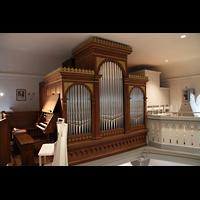 Völklingen - Ludweiler, Hugenottenkirche, Orgel mit Spieltisch
