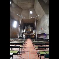 Saarlouis, St. Ludwig, Innenraum in Richtung Orgel