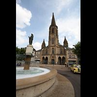 Saarlouis, St. Ludwig, Blick vom Großen Markt auf die Kirche