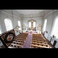 Saarbrücken, St. Johann Basilika, Blick von der Orgelempore in die Kirche