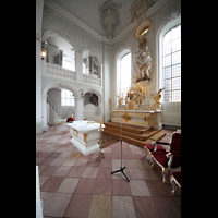 Saarbrücken, St. Johann Basilika, Chorraum mit Marienorgel