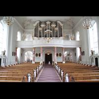 Saarbrücken, St. Johann Basilika, Innenraum in Richtung Orgel