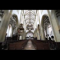 Augsburg, St. Ulrich und Afra, Innenraum mit Blick zur großen Orgel