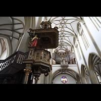 Augsburg, St. Ulrich und Afra, Kanzel und Orgel