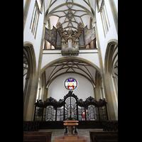 Augsburg, St. Ulrich und Afra, Westwand mit Orgel
