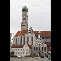 Augsburg, St. Ulrich und Afra, Ansicht von der Maximilianstraße aus