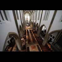 Augsburg, St. Ulrich und Afra, Blick von der Orgelempore ins Hauptschiff