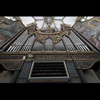 Augsburg, St. Ulrich und Afra, Orgelprospekt vom Spieltisch aus