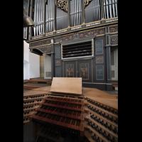 Augsburg, St. Ulrich und Afra, Spieltisch und Orgel