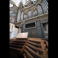 Augsburg, St. Ulrich und Afra, Orgel und Spieltisch