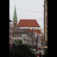 Augsburg, Dom St. Maria (Langhausorgel), Ansicht von der Karolinenstraße aus