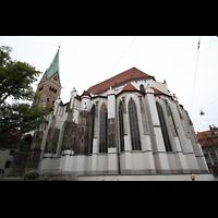 Augsburg, Dom St. Maria (Langhausorgel), Ansicht von Südosten