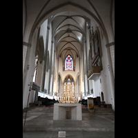 Augsburg, Dom St. Maria (Langhausorgel), Blick vom Westchor durch das Langhaus zum Ostchor