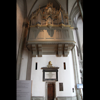 Augsburg, Dom St. Maria (Langhausorgel), Rückseite der Maerz-Orgel im südlichen Chorumgang
