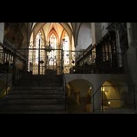 Augsburg, Dom St. Maria (Langhausorgel), Westchor mit Krypta