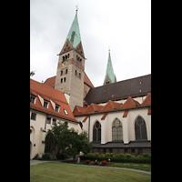 Augsburg, Dom St. Maria (Langhausorgel), Außenansicht vom Domhof aus