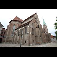 Augsburg, Dom St. Maria (Langhausorgel), Westchor und südliches Seitenschiff von außen