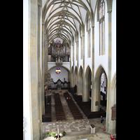 Augsburg, St. Ulrich und Afra, Blick vom Baugerüst im Chor zur Orgel