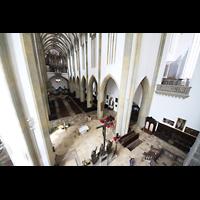 Augsburg, St. Ulrich und Afra, Blick vom Baugerüst in die Kirche