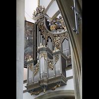 Augsburg, St. Ulrich und Afra, Blick durch die Pfeiler zur Hauptorgel