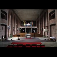 Augsburg - Lechhausen, St. Elisabeth, Blick vom Chor zur Orgel