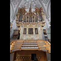 Landsberg, Stadtpfarrkirche Mariä-Himmelfahrt, Orgel und Spieltisch
