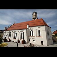 Weilheim, Mariae Himmelfahrt, Außenansicht vom Kirchplatz aus