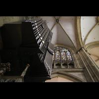 Regensburg, Dom St. Peter, Orgel von unten perspektivisch