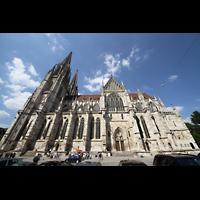 Regensburg, Dom St. Peter, Außenansicht von Süden