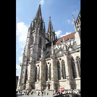 Regensburg, Dom St. Peter, Seitenansicht