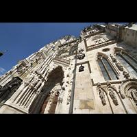 Regensburg, Dom St. Peter, Figurenschmuck am Hauptportal