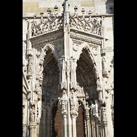 Regensburg, Dom St. Peter, Ornamentik am Hauptportals