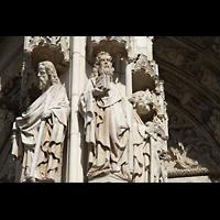 Regensburg, Dom St. Peter, Figuren-Detail des Hauptportals