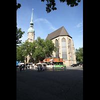 Dortmund, St. Reinoldi, Außenansicht von der Kleppingstraße Ecke Ostenhellweg aus