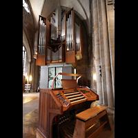Dortmund, St. Reinoldi, Orgel mit Spieltisch