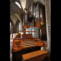 Dortmund, St. Reinoldi, Spieltisch und Orgel
