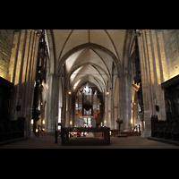 Dortmund, St. Reinoldi, Hauptschiff in Richtung Orgel