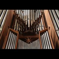Dortmund, St. Reinoldi, Spanische Trompeten und Prospektdetail