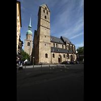 Dortmund, St. Marien, Ansicht vom Alten Markt auf die Marienkirche, im Hintergrund der Turm von St. Reinoldi